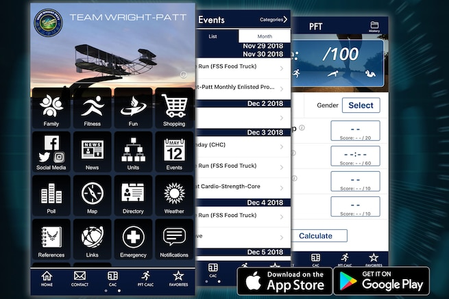 A new app designed to take all of the Team Wright-Patt base resources you count on and put them in one, easy to use place has launched in both the Apple App Store and Google Play and are available for immediate download.