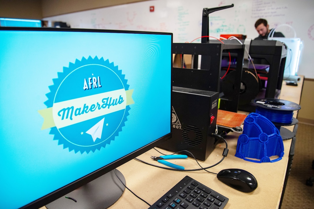 The Air Force Research Laboratory Maker Hub at the Wright Brothers Institute features a high-tech laboratory filled with a variety of industrial-grade 3D printers, electronics design and prototyping equipment, design and testing software, and a machine shop.