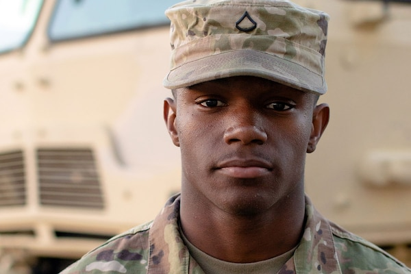 Pfc. Rashad Billingsley of the 2025th Transportation Company in Jacksonville, Ala., used his combat life-saving training to help save a 12-year-old girl who was shot at the Riverchase Galleria mall Nov. 23, 2018.