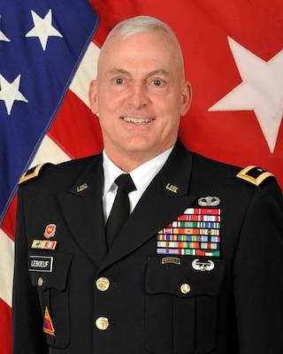 Brigadier General (P) Eugene (Gene) J. LeBoeuf poses for command photo.