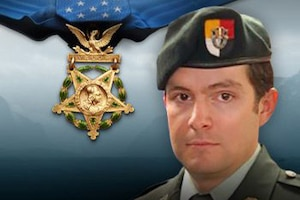 A graphic of former Staff Sgt. Ronald J. Shurer.