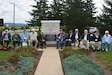 Twelve World War II Veterans of the 95th Infantry Division, currently serving Soldiers, friends and family members gathered Sept. 22 to rededicate the division monument at Fort Indiantown Gap. (U.S. Army National Guard photo by Lt. Col. Angela King-Sweigart)