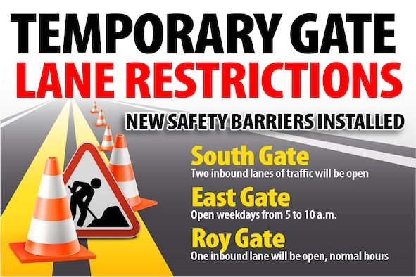Concrete islands and barriers will be installed at the South and Roy Gates beginning Oct. 8 through the end of November.