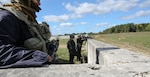 Engineers from the 119th SAPPR Engineer Company, West Virginia National Guard conduct perimeter security during Saber Junction 18, a combat training exercise, in Hohenfels, Germany on Sept. 25, 2018.  The SAPPR company worked as an opposition force during the exercise alongside Bavarian and Ukrainian forces defending Ubungsdorf, a city in the Hohenfels training center.