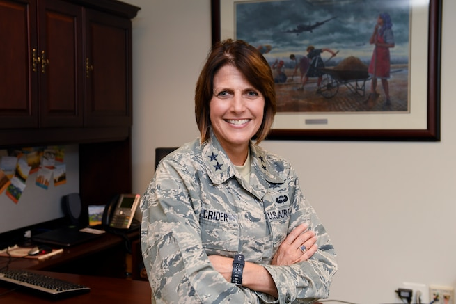 Maj. Gen. Kim Crider lead a team of Reserve Citizen Airmen in standing up the Air Force Chief of Data Office.