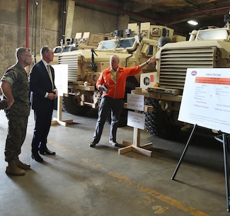 Senator David Perdue tours Marine Corps Logistics Command