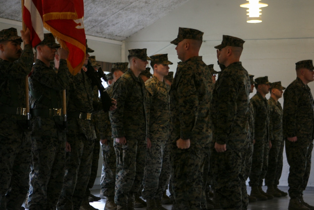 U.S. Marines and Sailors from 3rd Battalion, 8th Marine Regiment, mark an expanded rotational presence in Norway with a transfer-of-authority ceremony today in Setermoen, Norway, Oct.1,  2018. The incoming battalion relieved 1st Battalion, 6th Marine Regiment as Marine Rotational Force-Europe 19.1. This is the first deployment of the expanded Marine Corps rotational presence of approximately 700 Marines in Norway, which was announced by the Government of Norway in August.