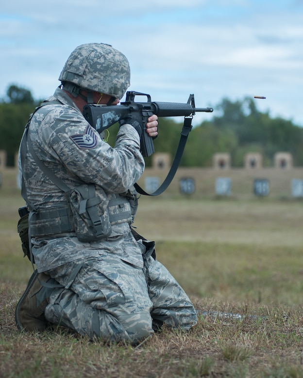M-16 assault rifle portion of the competition