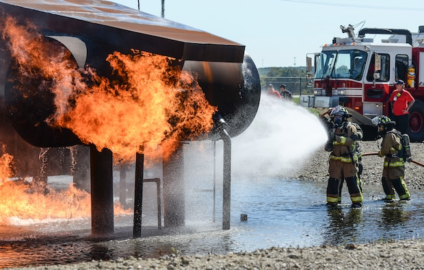 Fire Ops 101 event at Wright-Patterson Air Force Base