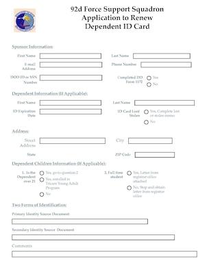 renewal application