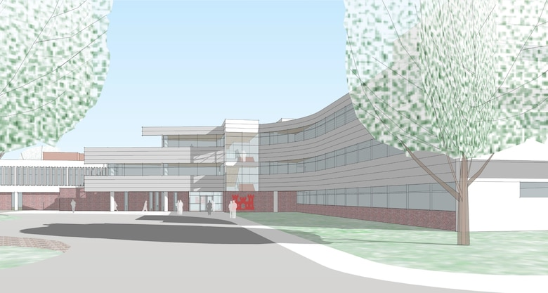 Artists' rendering of the new headquarters at Hanscom Air Force Base in Bedford, Massachusetts