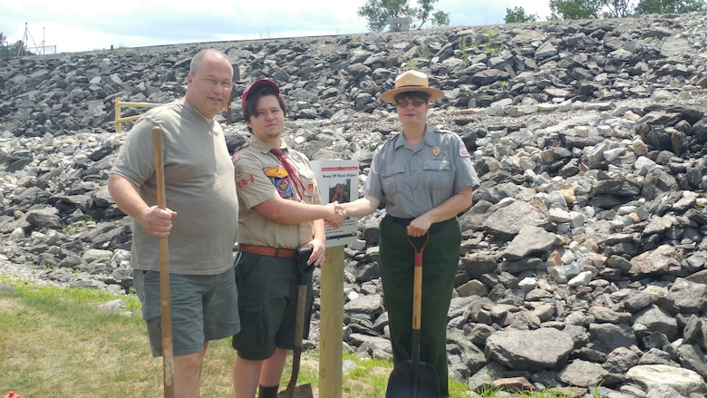 Eagle Scout Dan Kelly's Eagle Scout project helped with erosion control at Buffumville Dam.