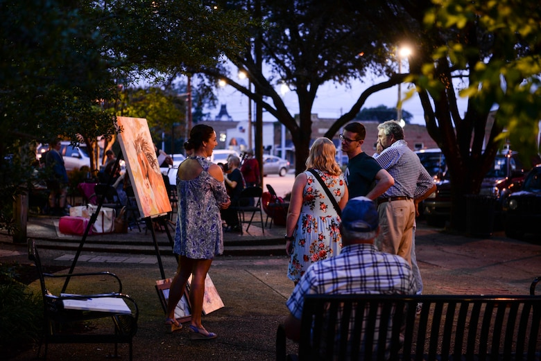 Student pilot showcases paintings in Columbus's Art Walk
