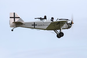 DAYTON, Ohio -- World War I replica aircraft took to the skies during during the eleventh WWI Dawn Patrol Rendezvous at the National Museum of the U.S. Air Force on Sept. 22-23, 2018. This is a Bowers Fly Baby (Junkers CL1 1/2 scale) owned by Clay McCutchan from Milton Florida. (U.S. Air Force photo by Ken LaRock)
