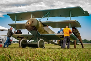 DAYTON, Ohio -- World War I replica aircraft took to the skies and engine start-ups could be seen during the eleventh WWI Dawn Patrol Rendezvous  at the National Museum of the U.S. Air Force on Sept. 22-23, 2018.  (Courtesy photo by Courtney Caillouet)
