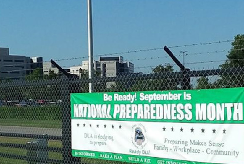 National Preparedness Month gate sign