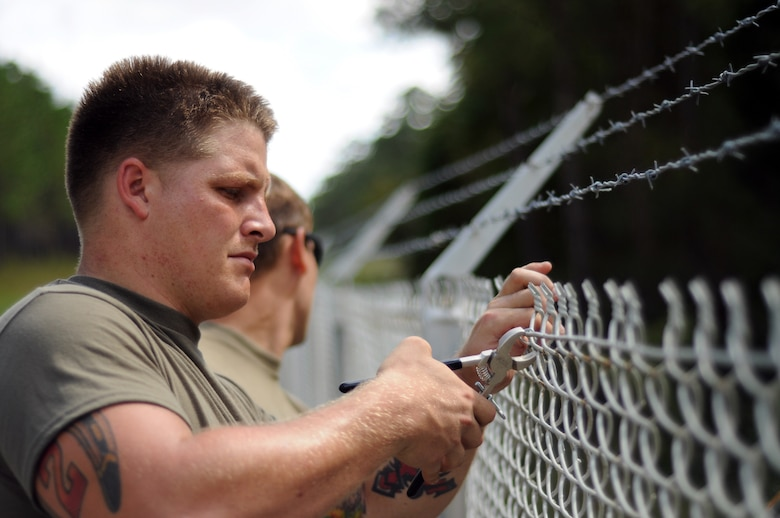 This photo shows repair work that is part of the recovery effort after damages caused by Hurricane Florence Sept. 14 and 15, 2018, and is led by the  Savannah District in cooperation with the 27th Combat Engineer Battalion (a) out of Fort Bragg, N.C.