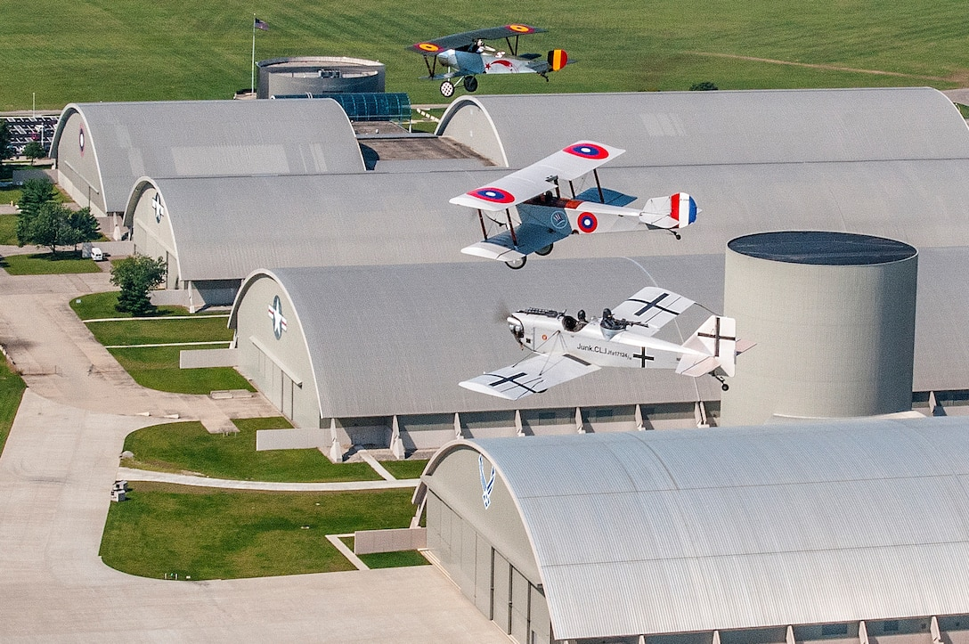 DAYTON, Ohio -- World War I replica aircraft took to the skies during during the eleventh WWI Dawn Patrol Rendezvous at the National Museum of the U.S. Air Force on Sept. 22-23, 2018. (Courtesy photo by Bill McCuddy)