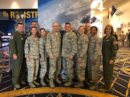 Having fun and meeting great Airmen at the annual AFA conference in Washington, D.C. Here, I caught up with members of the 403d Wing who received a shoutout from the CSAF during his address today!  (U.S. Air Force courtesy photo)