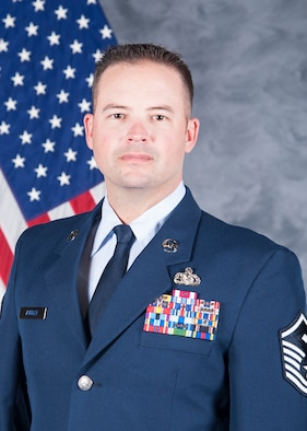 Master Sgt. Jeffrey Aungst, 422nd Air Base Group first sergeant