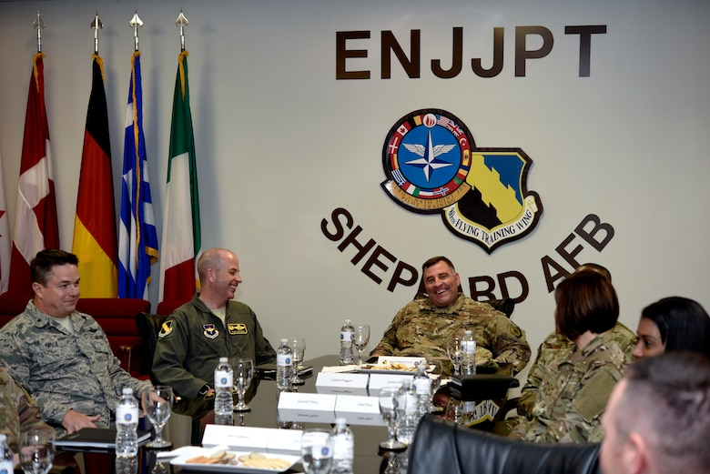 Sheppard Air Force Base is visited by Maj. Gen. Timothy Leahy, Commander of the 2nd Air Force