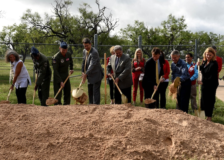 Abilene community, Dyess leadership conduct memorial park groundbreaking