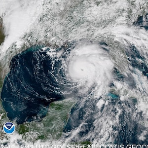 Satellite image of Hurricane Michael, which is expected to make landfall on Oct. 10, 2018.