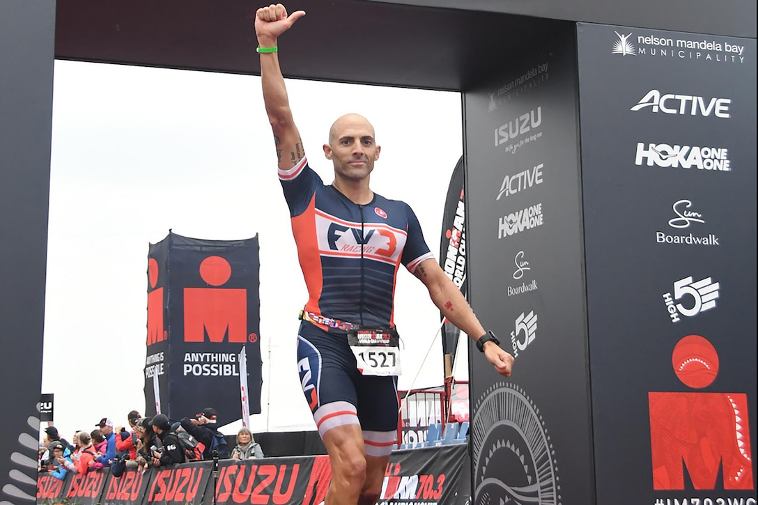 Marine credits triathlons for making him a better warfighter