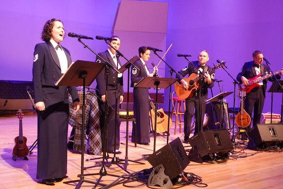 Celtic Aire was joined by Technical Sgt. Jilian McGreen from the Air Force Singing Sergeants