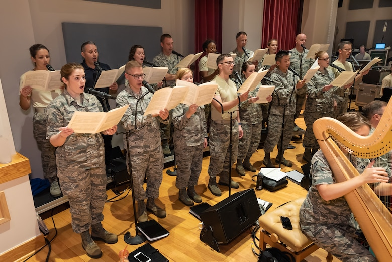 Singing Sergeants prepare for the Fall 2018 National Tour