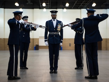 The United States Air Force Honor Guard Drill Team will show off their sharp skills on Oct. 20 at 1 p.m. in the Korea/South East Asia War Gallery. A standard team performance features a professionally choreographed sequence of show-stopping weapon maneuvers, precise tosses, complex weapon exchanges, and a walk through the gauntlet of spinning weapons.