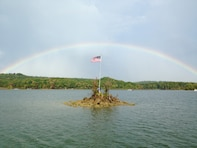 Rainbow over Nolin River Lake
