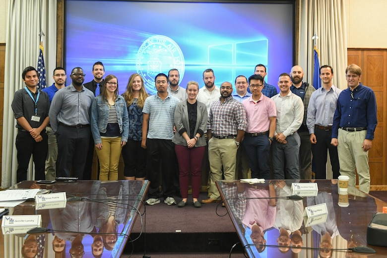 Science and Engineer Palace Acquire, or S&E PAQ, program participants during a base visit Sept. 20, 2018, at Hill Air Force Base, Utah. The visit included tours to showcase the various science, technology, engineering and math, or STEM, jobs available at Hill. (U.S. Air Force photo by Cynthia Griggs)