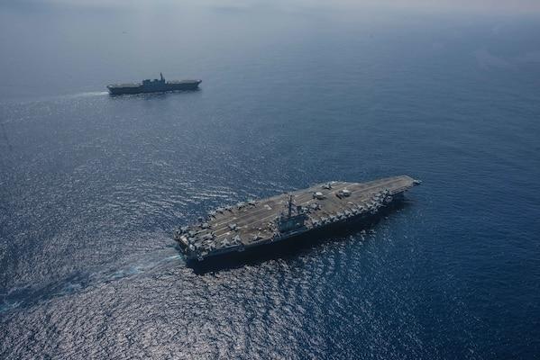 Ronald Reagan Strike Group, JMSDF participate in cooperative deployment