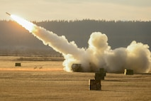A HIMARS has the ability and flexibility to launch its payload at ground targets and quickly move to a different location.