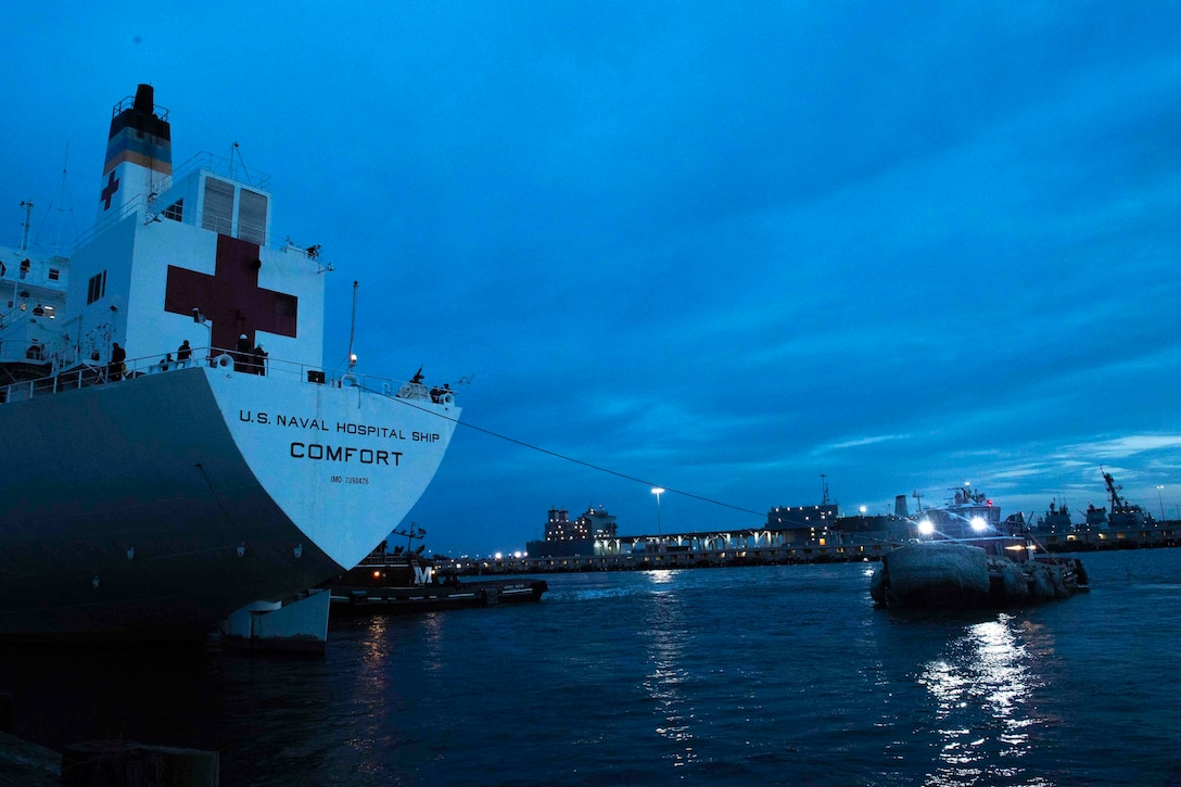 USNS Comfort on 11-week medical support mission to Central and South America as part of U.S. Southern Command's Enduring Promise initiative, October 10, 2018 (U.S. Navy/Daniel E. Gheesling)