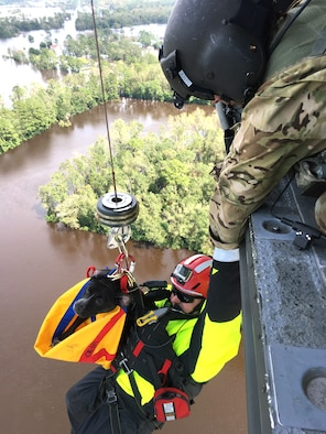 Members of the National Guard conduct search and rescue operations in North Carolina last month following Hurricane Florence. Disaster preparedness and unity of effort will be an Army priority, Army leaders said Oct. 9, 2018 during the annual AUSA meeting. With Hurricane Michael making landfall in Florida, Army leaders said they re-evaluated their response procedures after Hurricane Maria devastated Puerto Rico last year.