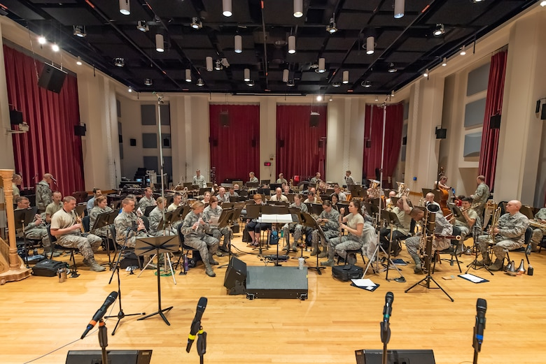 The Concert Band in rehearsal for the 2018 Fall Tour