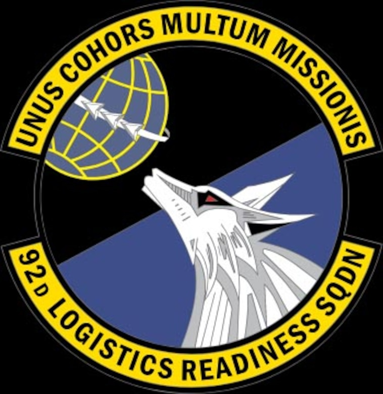 The 92nd Logistics Readiness Squadron logo. (U.S. Air Force courtesty photo)
