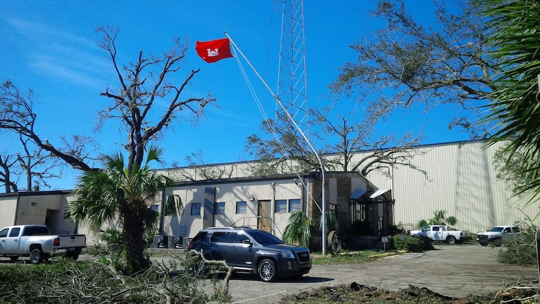 The U.S. Army Corps of Engineers Mobile District Panama City office, after the office was damaged by Hurricane Michael on Oct. 12, 2018 in Panama City, Fla. USACE Mobile District has deployed office trailers and generators to the office and plans to begin repairs on the facility next week.