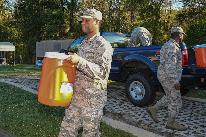 116th Air Control Wing deploys Airmen to distribute food and water for Hurricane Michael relief