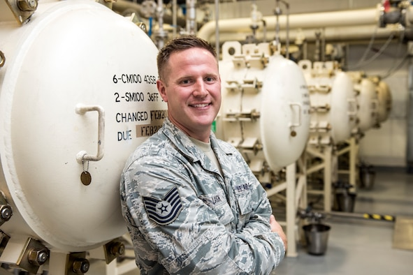 Tech. Sgt. Matt Laign, a water and fuels craftsman for the 167th Airlift Wing is the Airman Spotlight for 2018. (U.S. Air National Guard photo by Senior Master Sgt. Emily Beightol-Deyerle)