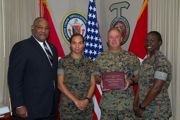 Outstanding Chapter Competition awarded to the Commanding General of Marine Corps Installations - West