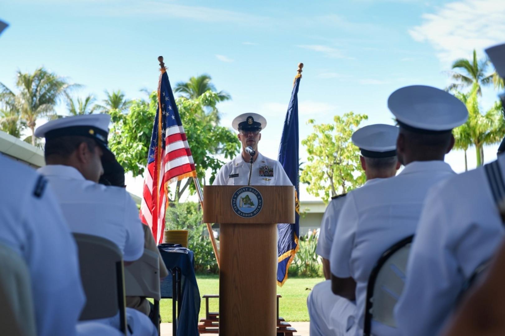 Joint Base Pearl Harbor-Hickam Celebrates Navy's 243rd Birthday
