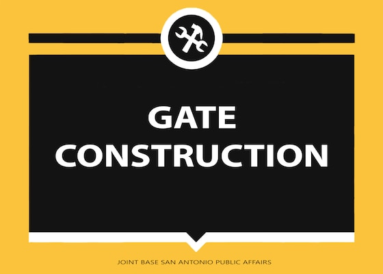 Throughout Joint Base San Antonio, installation entry control points, otherwise known as the base gates, will undergo multiple construction projects starting November 2018. These necessary construction projects will enhance force protection capability across JBSA, and when complete, will enhance the safety and security of our workforce, family and visitors.