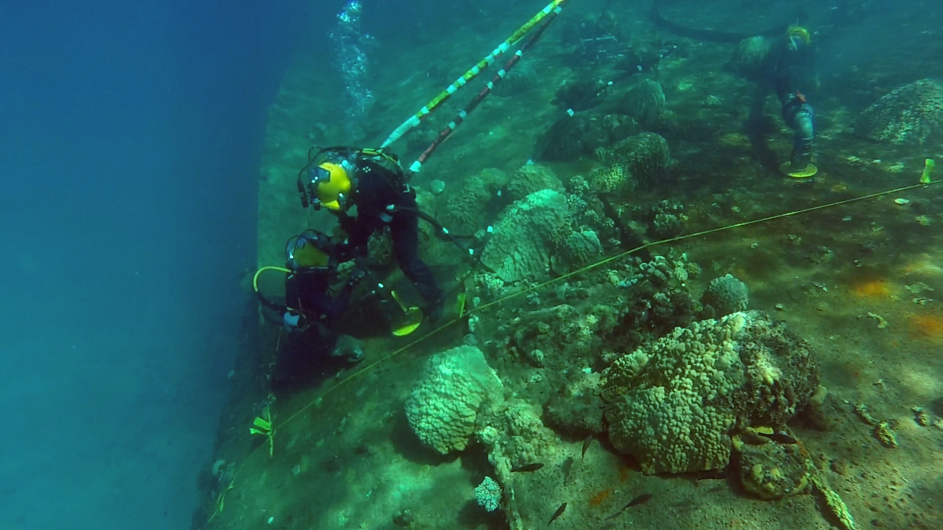 .S. Navy Divers Recover Oil from Wrecked WWII Prinz Eugen