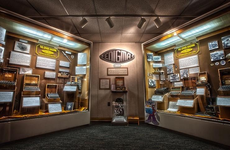 Enigma exhibit at the National Cryptologic Museum.