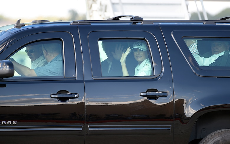 President lands at Robins