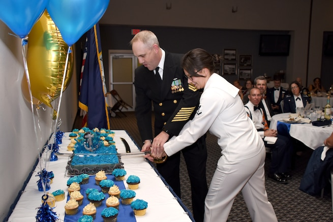 Goodfellow members celebrated the Navy's 243rd birthday.