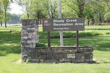 Shady Creek Recreation Area Sign
